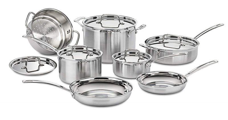 Cuisinart MCP-12N Stainless Steel 12-Piece Cookware Set